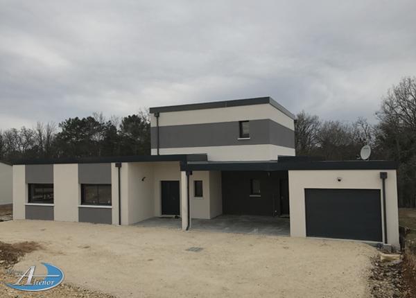 Construire maison toit plat Dordogne