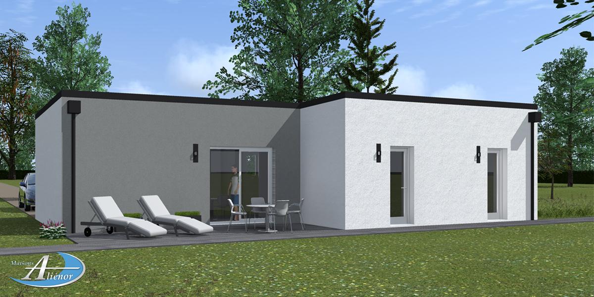 plan maisons moderne toit plat sarlat dordogne maisons alienor maisons ali nor. Black Bedroom Furniture Sets. Home Design Ideas