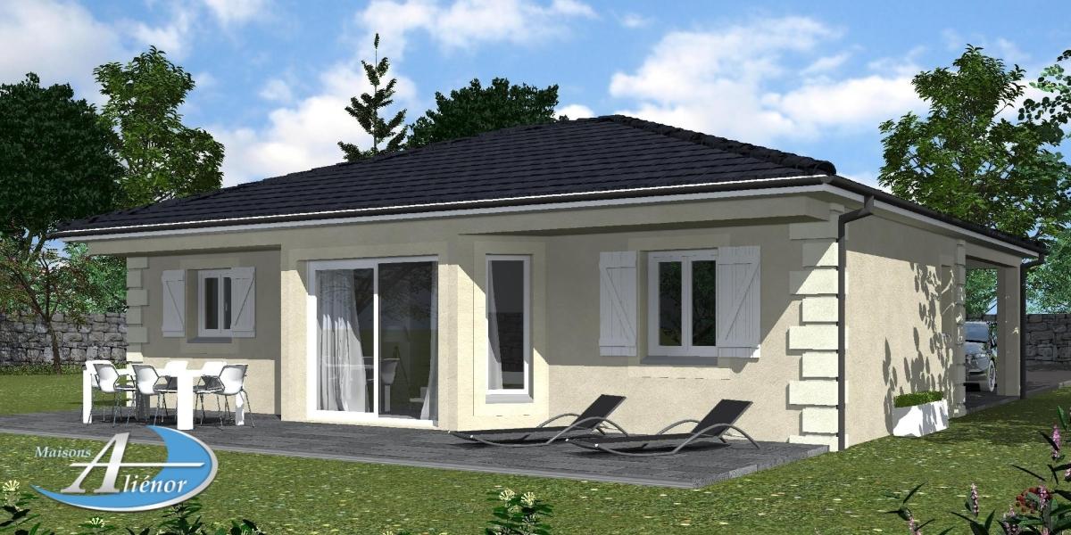 Plan maisons contemporaine 33 p rigueux dordogne 24 for Maisons alienor
