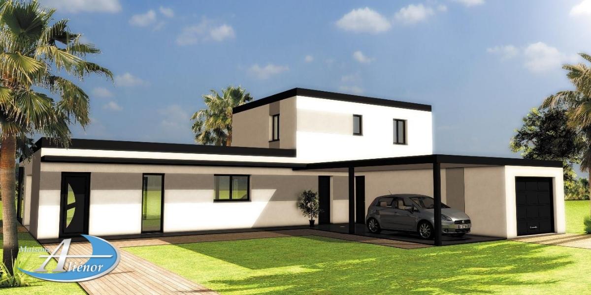 maisons alienor_maison moderne_constructeur de maison moderne_plan maison moderne_toiture terrasse