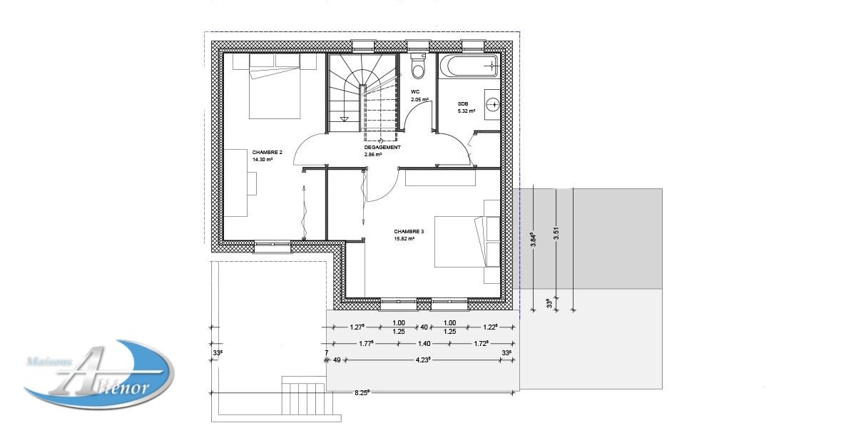 Modele de maison de ville plan maison de ville realisation for Plan maison de ville