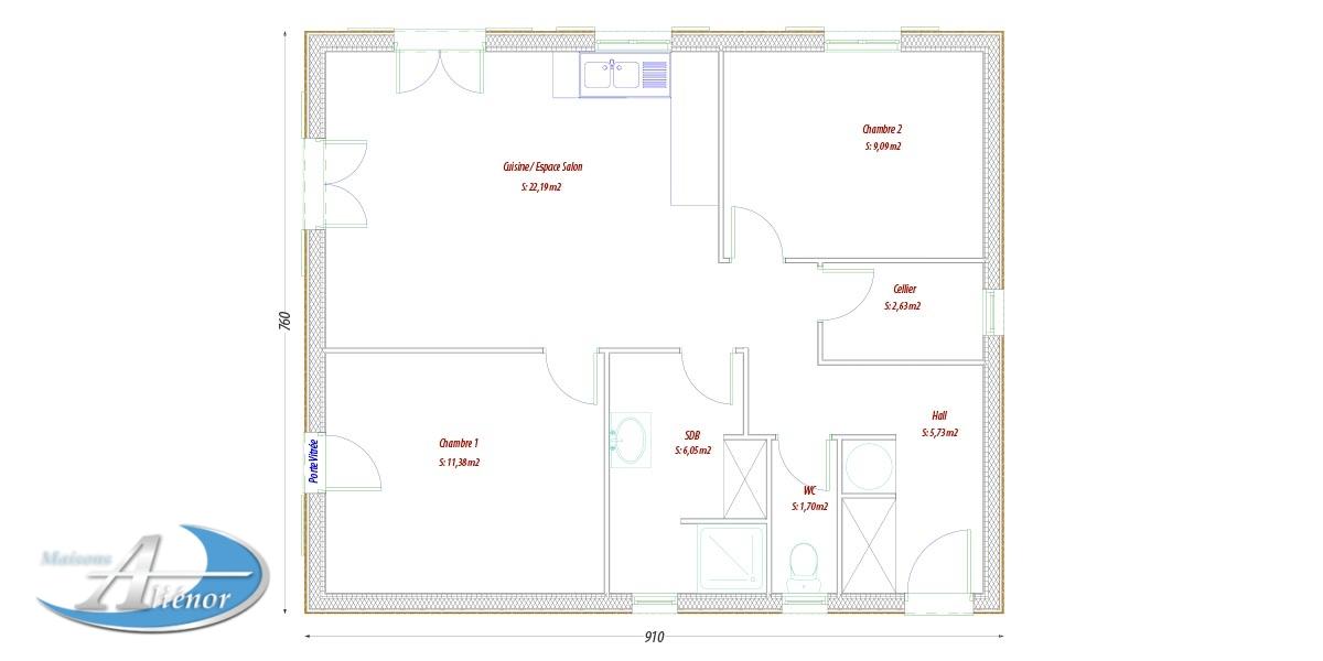 Modele maison bois plan maison bois maisons ali nor for Modele maison bois