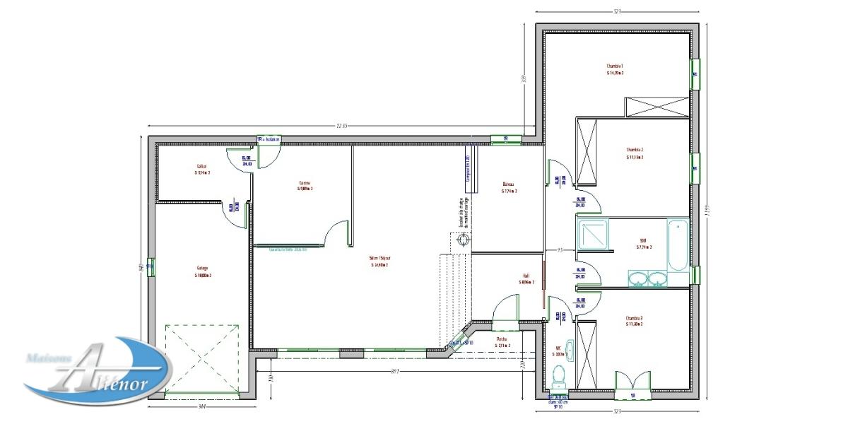 Plan Maison Contemporaine 33 Perigueux Dordogne 24 Maisons Alienor Maisons Alienor