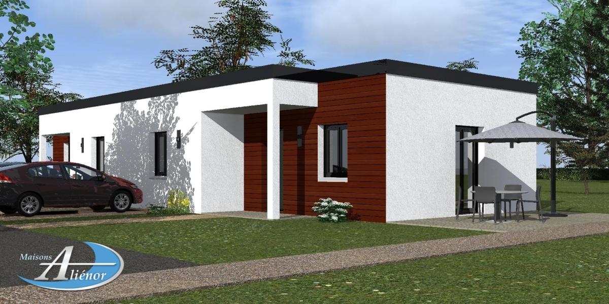 Plan maisons moderne toit plat perigueux dordogne 24 for Maisons alienor