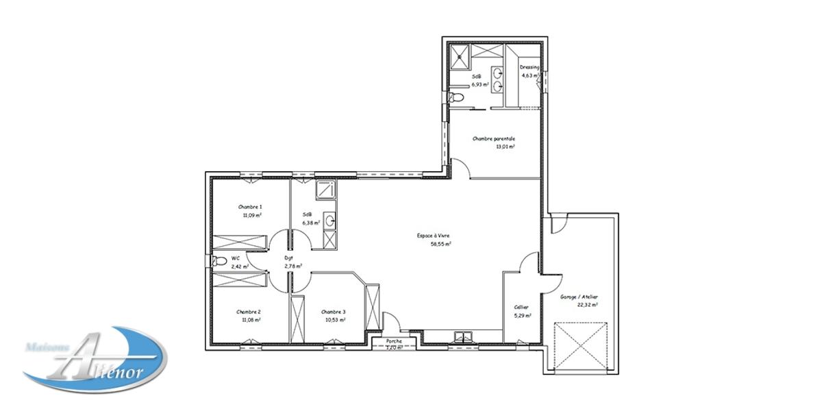 Plan Maison Typhon Maisons Alienor