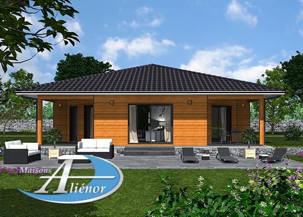 Plan maisons alienor et Leroy Merlin maison bois moderne