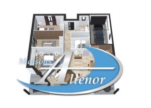 plan maisons alienor et leroy merlin partenariat maison moderne vue1 maisons ali nor. Black Bedroom Furniture Sets. Home Design Ideas