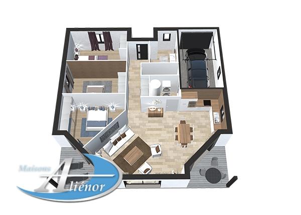 plan maisons alienor et leroy merlin partenariat maison. Black Bedroom Furniture Sets. Home Design Ideas