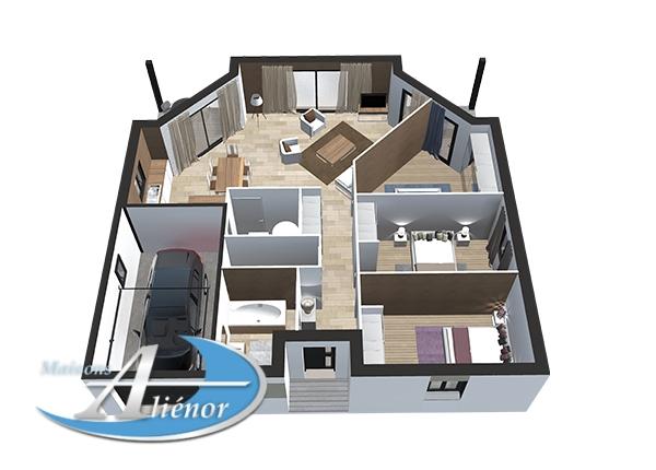 plan maisons alienor et leroy merlin partenariat maison moderne vue2 maisons ali nor. Black Bedroom Furniture Sets. Home Design Ideas