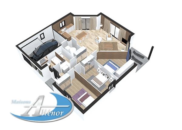 Plan maisons alienor et leroy merlin partenariat maison moderne vue3