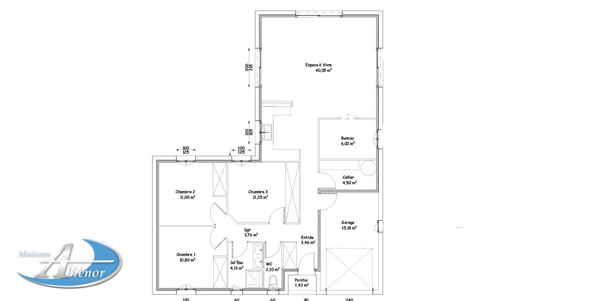 Plan Maison En L Plan Maison Gratuit Maisons Alienor