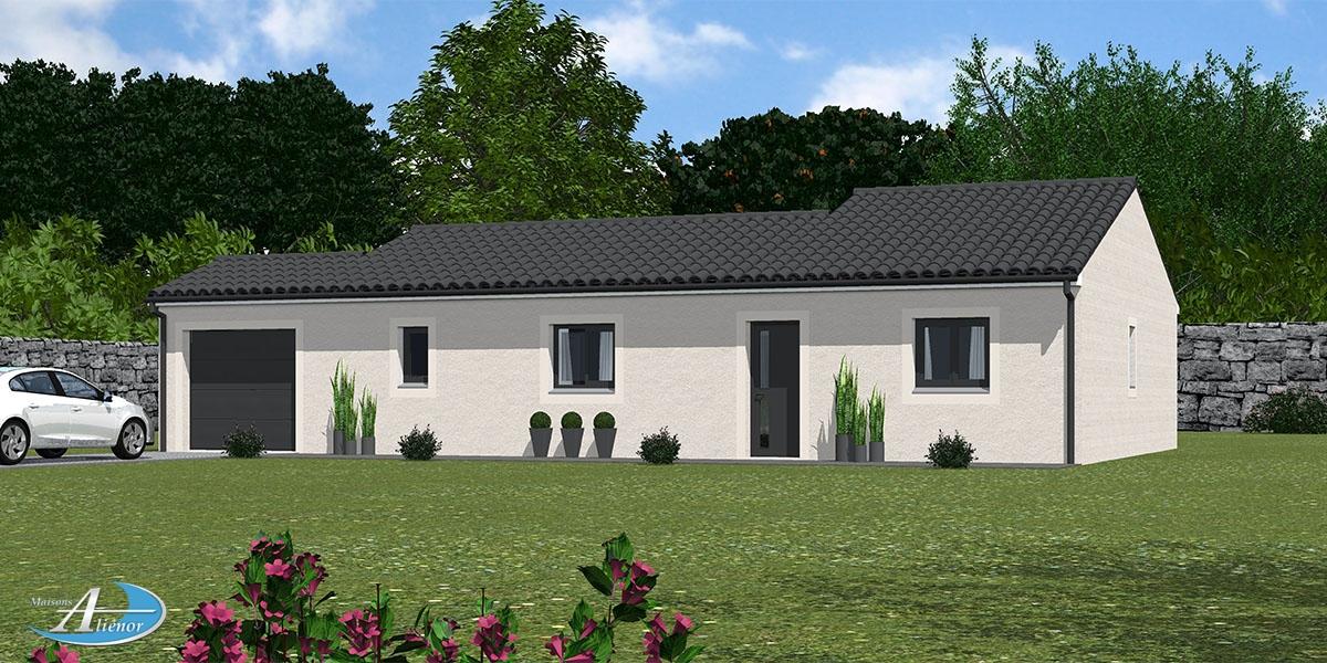 Façade maison contemporain constructeure